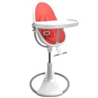 Стільчик для годування Bloom Fresco White вкладка persimmon red