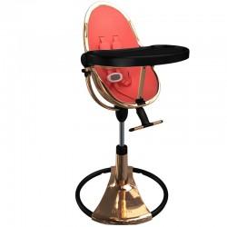 Стільчик для годування Bloom Fresco Rose Gold Black вкладка persimmon red