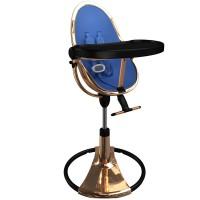 Стільчик для годування Bloom Fresco Rose Gold Black вкладка riviera blue