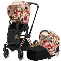 Коляска Cybex Priam 2 в 1 Blossom Light шасі Rosegold