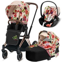 Коляска Cybex Priam 3 в 1 Blossom Light шасі Rosegold автокрісло Cloud Z-iSize