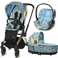 Коляска Cybex Priam 3 в 1 Jeremy Scott Cherubs Blue автокрісло Cloud Z-iSize