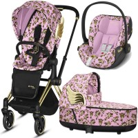 Коляска Cybex Priam 3 в 1 Jeremy Scott Cherubs Pink автокрісло Cloud Z-iSize