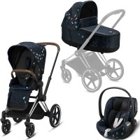 Коляска Cybex Priam 3 в 1 Jewels of Nature шасі Chrome Brown автокрісло Cloud Z-iSize