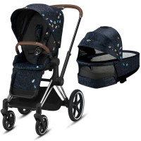 Коляска Cybex Priam 2 в 1 Jewels of Nature шасі Chrome Brown