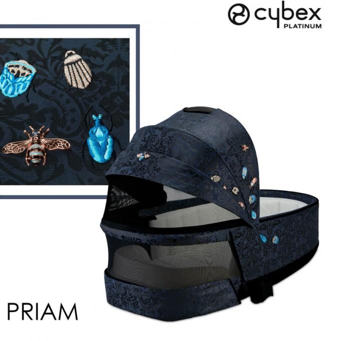Коляска Cybex Priam 3 в 1 Jewels of Nature шасі Chrome Brown автокрісло Cloud Z-iSize