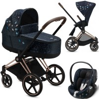 Коляска Cybex Priam 3 в 1 Jewels of Nature шасі Rosegold автокрісло Cloud Z-iSize