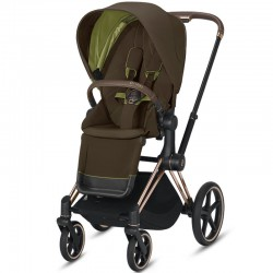 Cybex Priam khaki green шасі Rosegold прогулянкова коляска