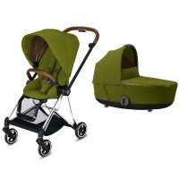 Коляска Cybex Mios 2 в 1 Khaki Green шасі Chrome Brown