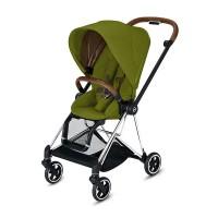 Прогулянкова коляска Cybex Mios Khaki Green шасі Chrome Brown