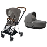 Коляска Cybex Mios 2 в 1 Soho Grey шасі Chrome Brown