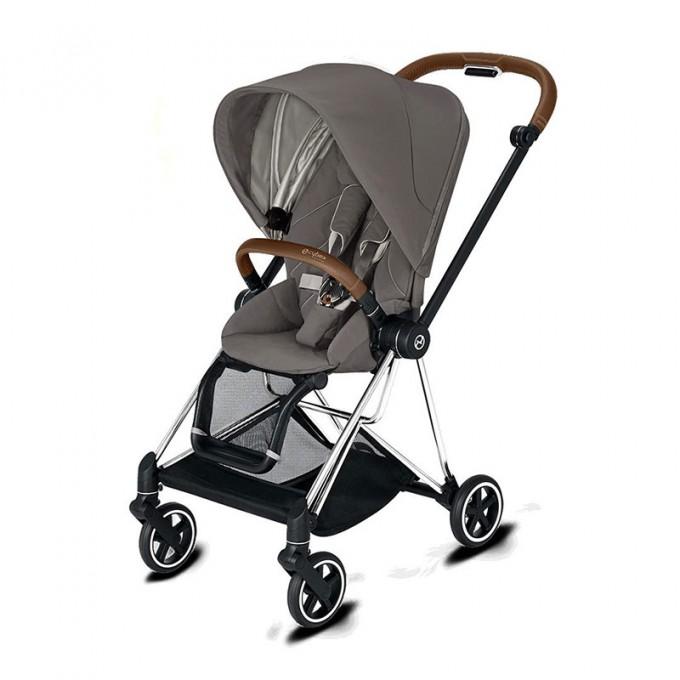 Прогулянкова коляска Cybex Mios Soho Grey шасі Chrome Brown