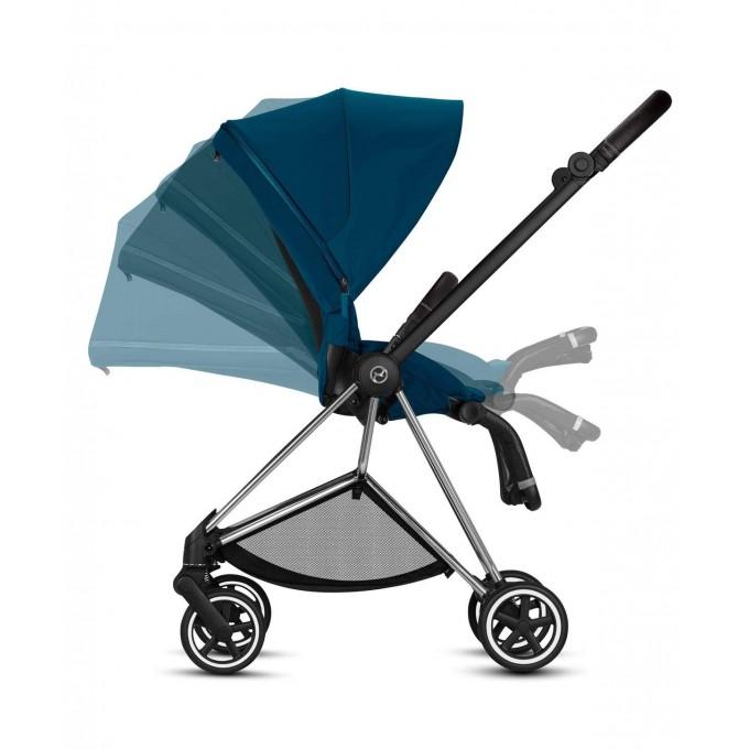 Прогулянкова коляска Cybex Mios Mountain Blue шасі Chrome Brown