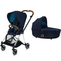Коляска Cybex Mios 2 в 1 Nautical Blue шасі Chrome Brown