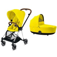 Коляска Cybex Mios 2 в 1 Mustard Yellow шасі Chrome Brown