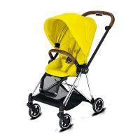 Прогулянкова коляска Cybex Mios Mustard Yellow шасі Chrome Brown