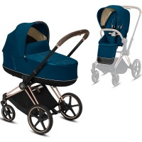 Коляска Cybex Priam 2 в 1 Mountain Blue шасі Rosegold
