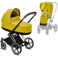 Коляска Cybex Priam 2 в 1 Mustard Yellow шасі Chrome Brown