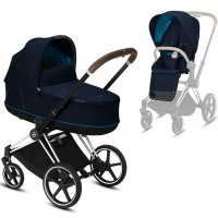 Коляска Cybex Priam 2 в 1 Navy Blue шасі Chrome Brown