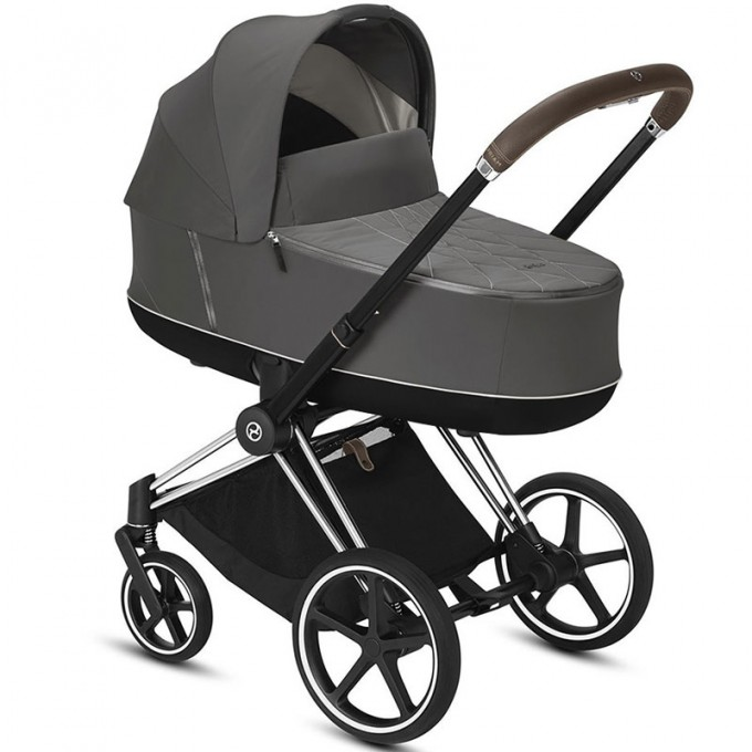 Cybex Priam soho grey шасси chrome brown коляска 2 в 1