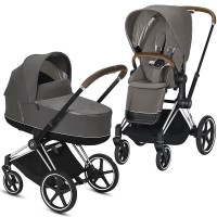 Коляска Cybex Priam 2 в 1 soho grey шасси chrome brown