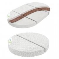 Матрац 3 в 1 кокос-поролон для круглої кроватки