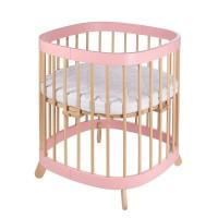 Ліжко-трансформер Tweeto 7 в 1 pink/natural