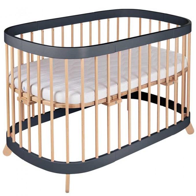 Ліжко-трансформер Tweeto 7 в 1 slate/natural