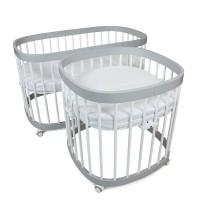 Ліжко-трансформер Tweeto 7 в 1 white/grey