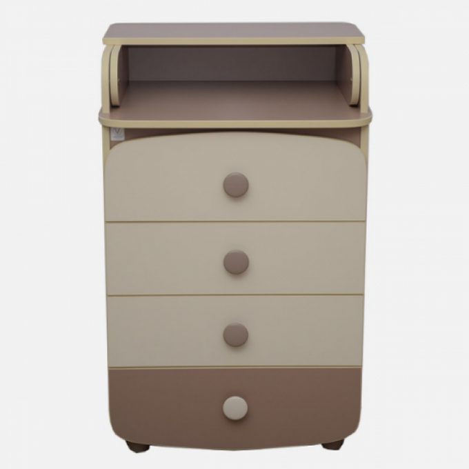 Комод-пеленатор Верес 600 ДСП (колір: капучино)