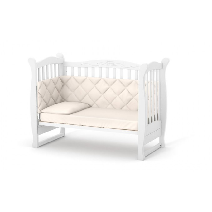 Ліжечко Верес ЛД15 маятник з шухлядою (колір: білий) ЄС