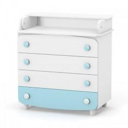 Комод-пеленатор Верес 900 ДСП (колір: біло-бірюзовий)