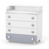 Комод-пеленатор Верес 900 ДСП (колір: біло-сірий)