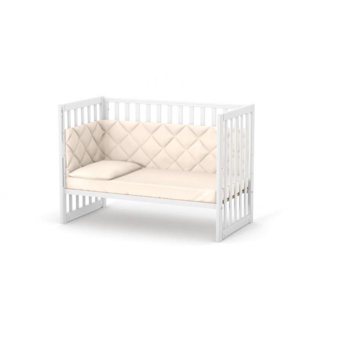 Ліжечко Верес ЛД13 без шухляди (колір: білий) ЄС