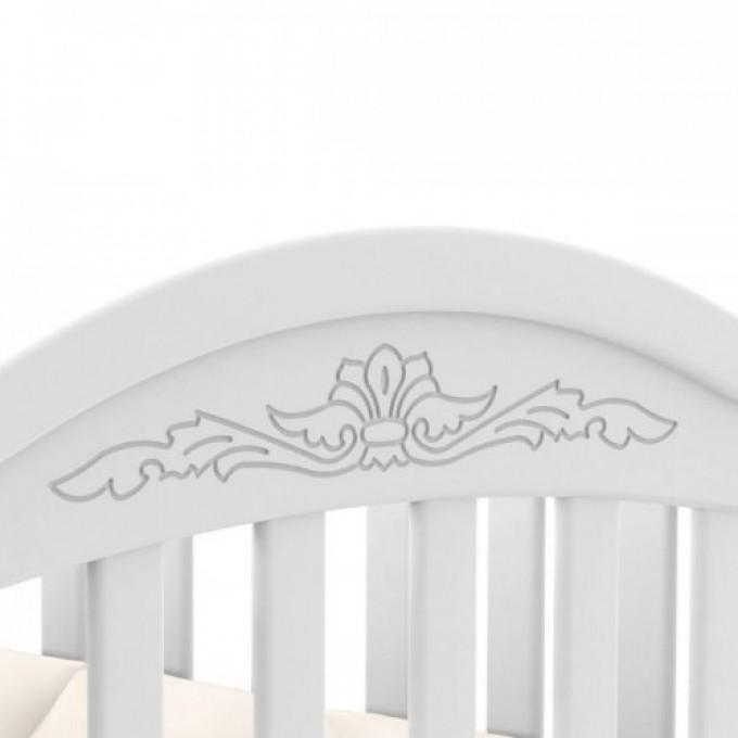 Ліжечко Верес ЛД3 маятник з шухлядою (колір: білий) ЄС