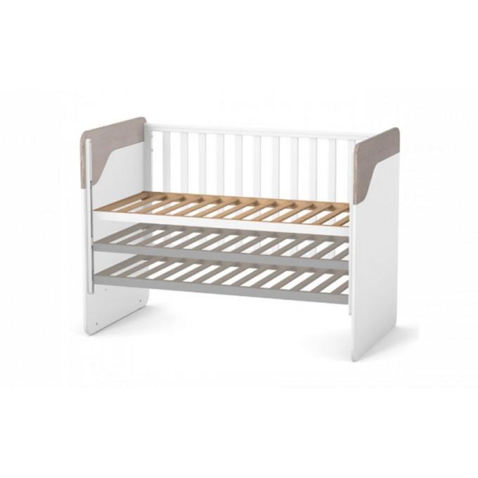 Ліжечко Верес ЛД4 Сідней без шухляди (колір: капучино-білий)