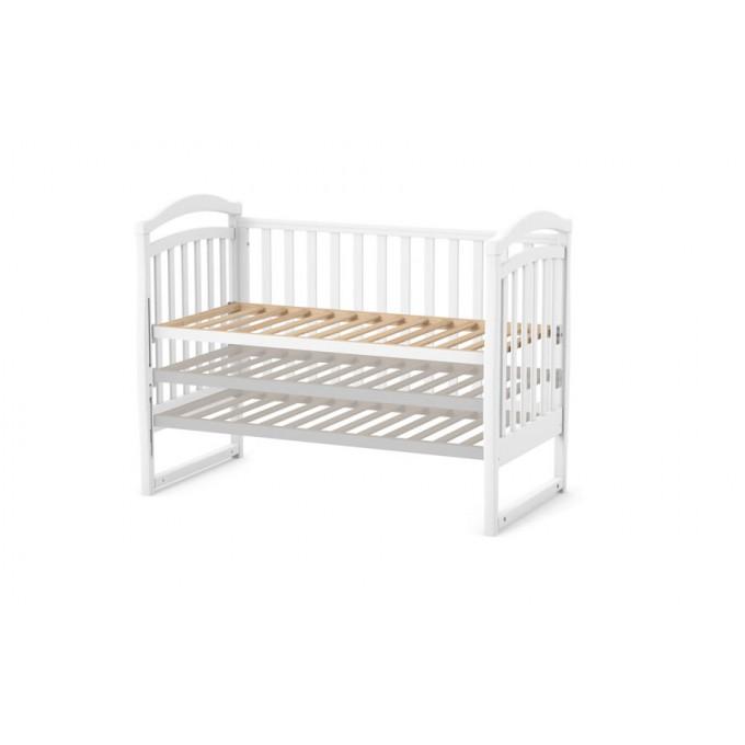 Ліжечко Верес ЛД6 без шухляди (колір: білий) ЄС