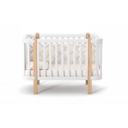 Ліжечко Верес Монако (колір: біло-буковий)