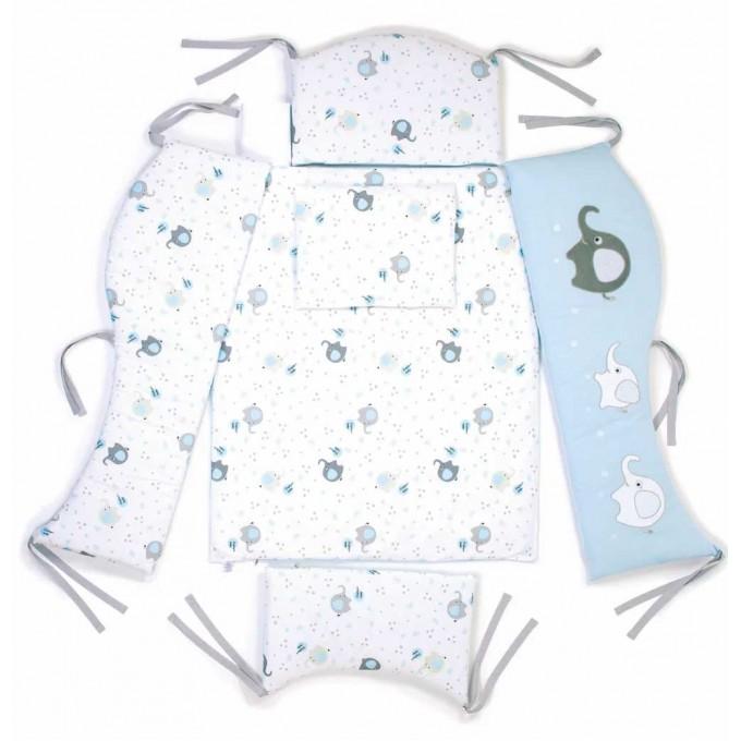 Комплект постільної білизни Верес Elephant family blue 6 елементів
