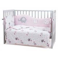 Комплект постільної білизни Верес Elephant family pink 6 елементів