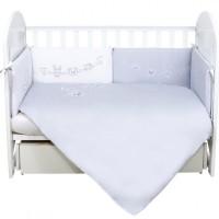Комплект постільної білизни Veres Ring toys white-gray 6 елементів