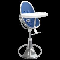Стільчик для годування Bloom Fresco Silver вкладка riviera blue