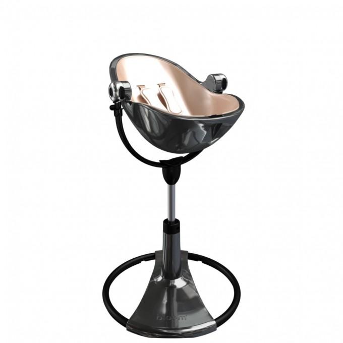 Стільчик для годування Bloom Fresco Titanium вкладка gold rosa