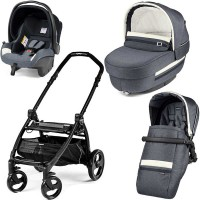 Peg-Perego Elite Luxe Mirage Book Plus matt black коляска 3 в 1