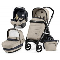 Peg-Perego Elite Luxe Beige Book 51 grey коляска 3 в 1