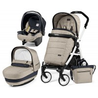 Peg-Perego Elite Luxe Beige Book Plus 51 black/white коляска 3 в 1