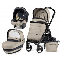 Peg-Perego Elite Luxe Beige Book Plus matt black коляска 3 в 1