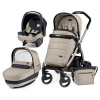 Peg-Perego Elite Luxe Beige Book Plus grey коляска 3 в 1