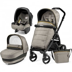 Peg-Perego Elite Luxe Grey Book Plus matt black коляска 3 в 1