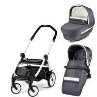 Peg-Perego Elite Luxe Mirage Book Plus 51 black/white коляска 2 в 1